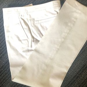Tory Burch White Cotton Summer Pants Sz: 2